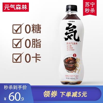元氣森林無糖酸梅汁味蘇打氣泡水0脂0卡碳酸飲料汽水飲料整箱