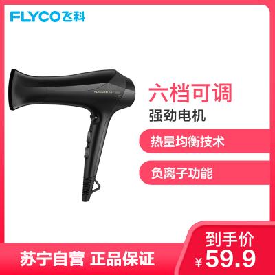 飛科(FLYCO)電吹風 FH6266 六檔變速調控負離子護發健康柔風2000W家用吹風機