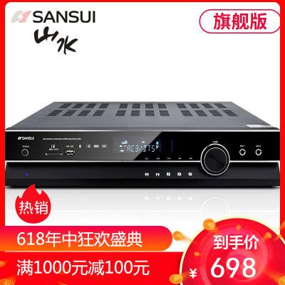 山水(SANSUI)UX60 AV功放机家用音响大功率家用5.1声道专业重低音家庭影院数字功放 支持USB蓝牙旗舰版