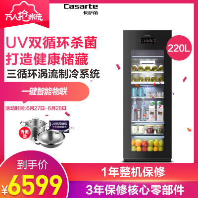 Casarte冰吧LC-220JE 220升 高端冰吧 母嬰冰箱 商務冰箱 茶葉柜 辦公室冰箱 紅酒柜 飲料柜 雪茄