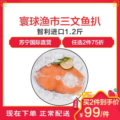 寰球渔市 智利三文鱼扒1.2斤 鱼肉 中段轮切冷冻进口三文鱼 600g/盒 海鲜水产 生鲜 进口海鲜