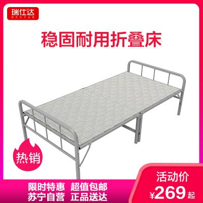 瑞仕達 Restar 折疊床加固簡易硬板木板床板式家用成人午休床單人床辦公室午睡床帶欄桿