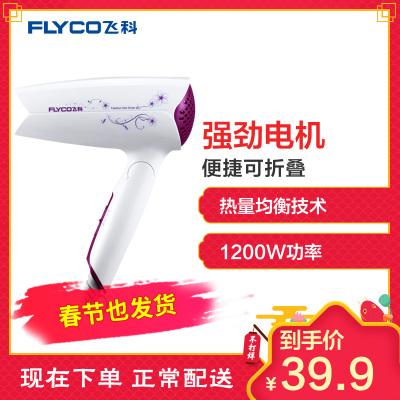 飞科(FLYCO)电吹风FH6257 小功率可折叠宿舍家用吹风机