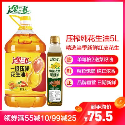 【滿55減10】逸飛 特香壓榨一級純花生油 5L食用油