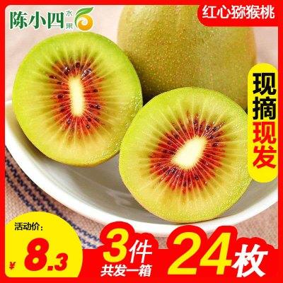 陳小四水果 四川紅心獼猴桃 8枚 中果 單果約70-90g 新鮮水果 生鮮水果 其他