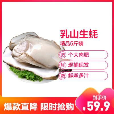 【順豐直達】鮮活乳山三倍體生蠔 精品5斤裝 單個50-100g 牡蠣海蠣子 生鮮貝類 新鮮海鮮水產 星優選