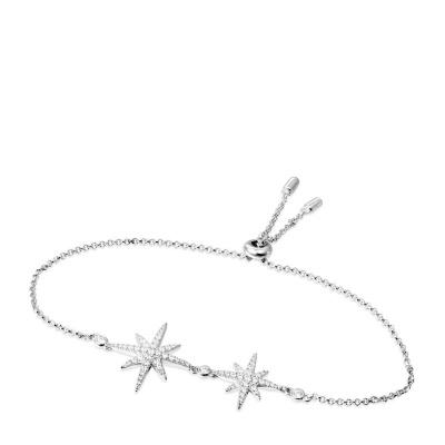 APM MONACO 女士 八芒星造型S925纯银镶晶钻双流星手链 AB3325OX