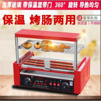 烤腸機熱狗機烤香腸機全自動商用妖怪雙控溫帶燈帶門帶保溫