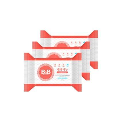 B&B 保寧 嬰兒洗衣皂 洋槐香 200克/塊 3塊裝