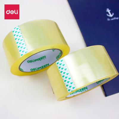 得力deli30912封箱膠帶透明打包膠帶強粘性封口膠紙48mm*100y批發45um單卷價