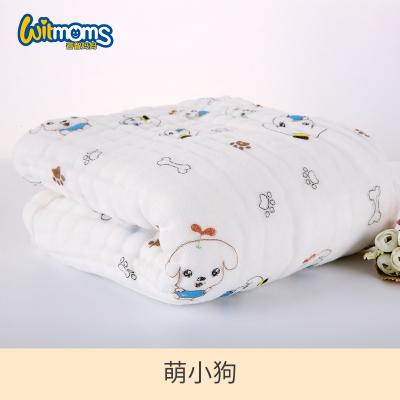 睿智媽媽(witmoms)嬰兒浴巾 幼兒童純棉六層紗布新生兒泡泡棉印花105cm*105cm