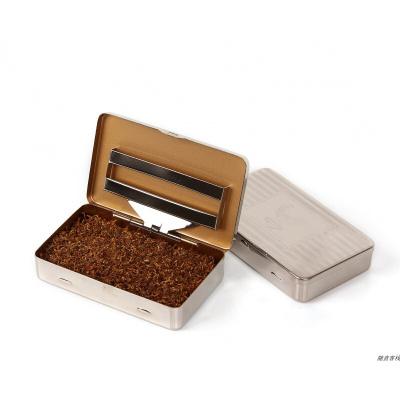 便攜專用煙盒 手卷盒 銀色金屬盒 煙斗絲盒 絲煙盒