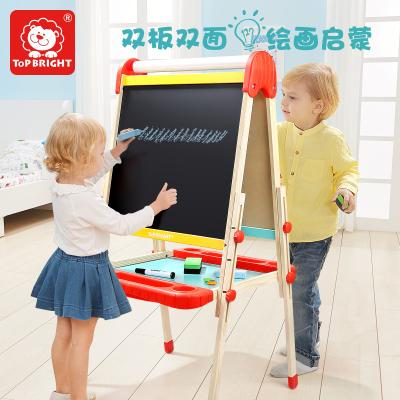 特寶兒(topbright)雙板兒童畫板大黑板男孩女孩兒童玩具可升降磁性支架式寫字板畫板玩具1-3-6歲 120383