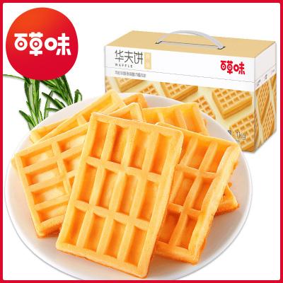 百草味 糕点点心 华夫饼 1000g 早餐食品糕点心小吃休闲零食面包整箱