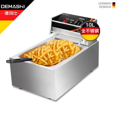 德瑪仕(DEMASHI)電炸爐商用 小吃油炸鍋油炸機 油條機 薯條機 電炸鍋 油炸爐 炸串機 單缸C款【10升】
