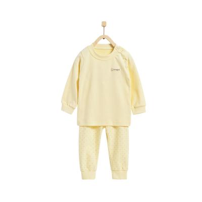 童泰TONGTAI嬰兒純棉肩開內衣套裝四季款秋衣秋褲兩件套嬰幼兒通用100cm