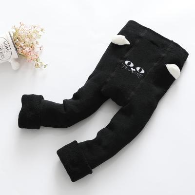 红豆居家(Hodohome)2018年冬季女童B类打底裤毛圈加厚洋气可外穿儿童保暖裤