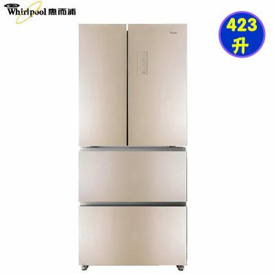 Whirlpool/惠而浦BCD-423WMGBW法式多門電冰箱 風冷變頻 玻璃面板多門