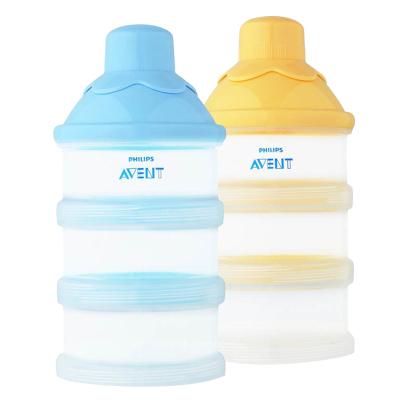 飞利浦新安怡三层式奶粉盒 便携式奶粉辅食储存盒 婴儿奶粉格