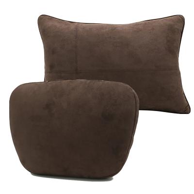 (摩卡棕頭枕+腰靠)ZHUAX汽車頭枕護頸枕頸椎枕靠枕車內座椅腰靠車用小枕頭車載抱枕車內四季睡覺奔馳邁巴赫S級高檔