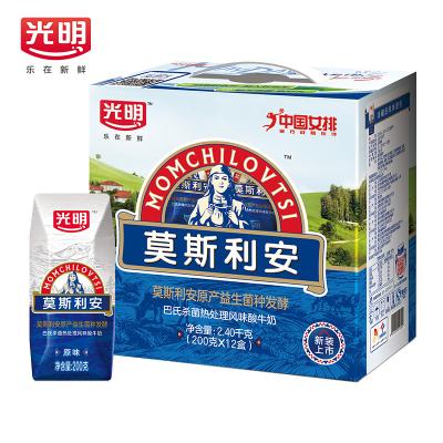 光明 莫斯利安 常溫原味酸奶 200g*12盒