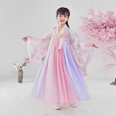 【精品好貨】兒童漢服女童古裝超仙新款小女孩中國風襦裙古裝仙女服夏裝連衣裙