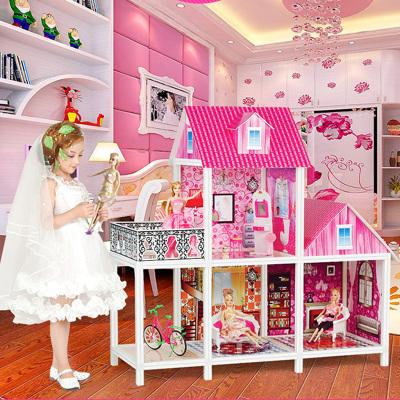 聰樂美芭比娃娃套裝大禮盒女孩公主別墅玩具屋冰雪奇緣洋娃娃超大城堡夢想豪宅兒童生日禮物單間帶陽臺66887
