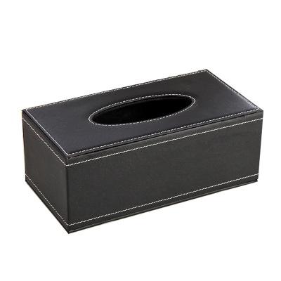 【規格:25*11*17 單位:cm 黑色 大號/小號 2個裝】紙巾盒 客廳餐巾皮革抽紙盒 酒店紙抽盒車用皮質紙盒