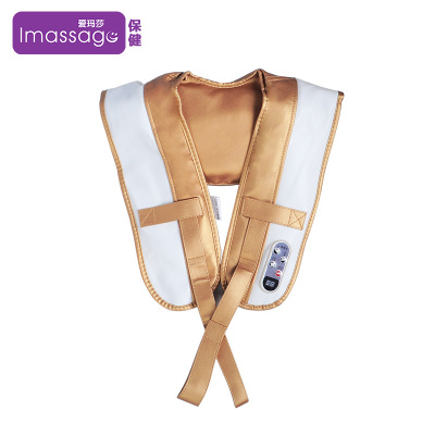 爱玛莎Imassage按摩披肩支持肩颈捶打按摩披肩微电脑式颈椎按摩器捶背颈部腰部2头健身锤/按摩捶