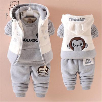 女宝宝0—1岁半男婴儿3秋冬装4加绒衣服5小孩7冬季8套装6-12个月9