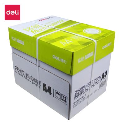 得力(deli)33128復印紙A4紙打印 銘銳木漿復印紙70g整箱 500張/包 5包裝
