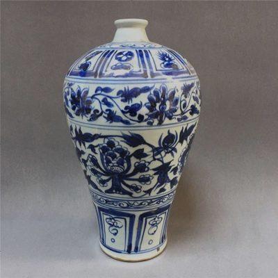 元 元青花手绘青花瓷古董收藏品古玩书房摆件老货仿古老瓷器古典