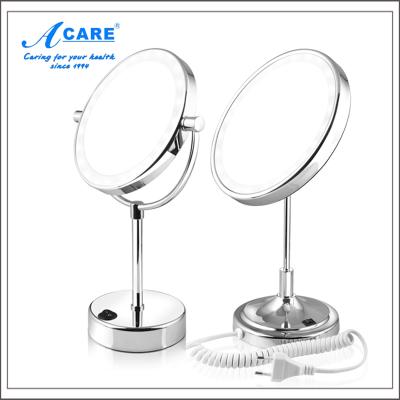 acare艾呵 3英寸欧式高清台式化妆镜子简约大号公主镜单面伸缩放大双面镜梳妆镜子美妆镜便携梳妆镜宿舍桌面镜