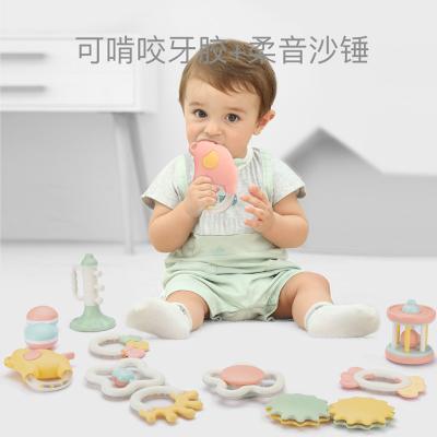 貝恩施嬰兒手搖鈴1歲嬰幼兒新生兒寶寶益智牙膠抓握玩具 10件套 嬰兒搖鈴B270