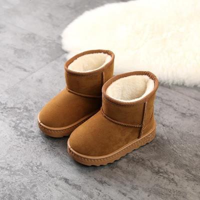 儿童雪地靴女童鞋子新款冬季小男童皮毛一体靴子宝宝加绒加厚棉鞋
