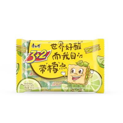 康师傅 3+2苏打夹心 400g 清新柠檬味