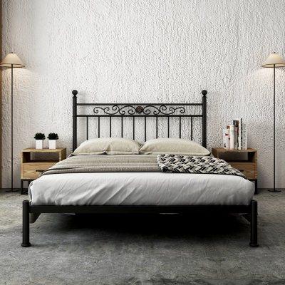 現代簡約鐵藝床公主兒童鐵床ins單人1.2米北歐1.5米雙人鐵架床