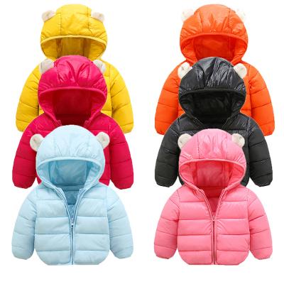 2018新款冬季兒童棉服中小童裝男女寶寶小耳朵連帽棉衣棉服棉襖外套短款 莎丞