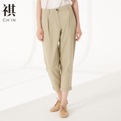 【3件1.5折价:43.5】CHIN祺女装休闲裤秋季薄棉宽松显瘦长裤微喇裤萝卜裤