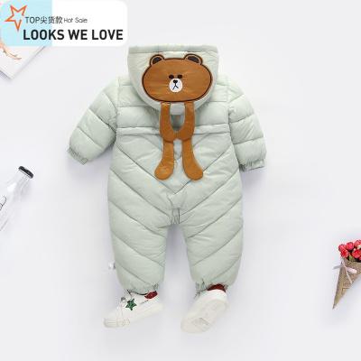 反季儿外出抱衣服秋冬季婴儿连体衣宝宝羽绒棉衣加厚冬装套装
