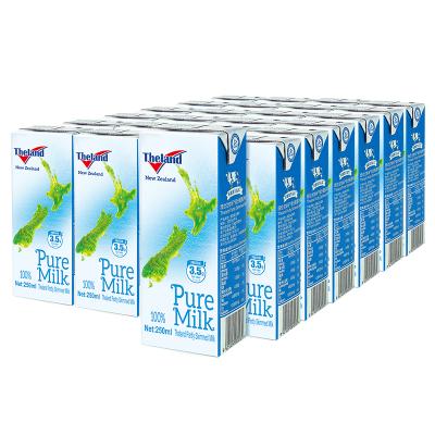 新西兰进口 纽仕兰Theland部分脱脂牛奶 3.5g蛋白质 250ml*24盒 (家庭装)