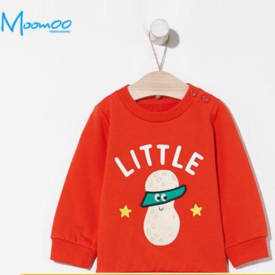 【79元任選3件】moomoo童裝男幼童衛衣春秋裝新款卡通韓版洋氣小寶寶套頭衫