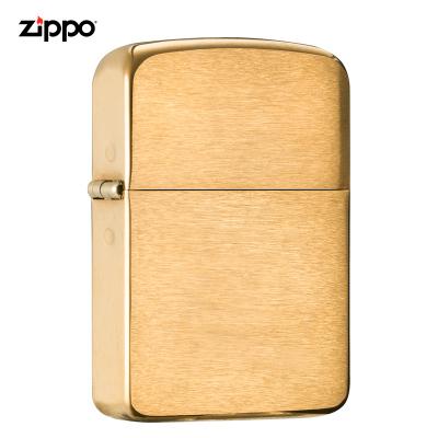 zippo打火机美国原装ZIPPO打火机1941拉丝黄铜之宝打火机1941B-043430