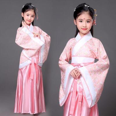 兒童古裝仙女裙裝漢服公主貴妃改良小女孩影樓表演寫真舞蹈演出服