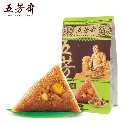 五芳齋嘉興特產粽子栗子肉粽 真空140g*2共280g 板栗豬肉粽
