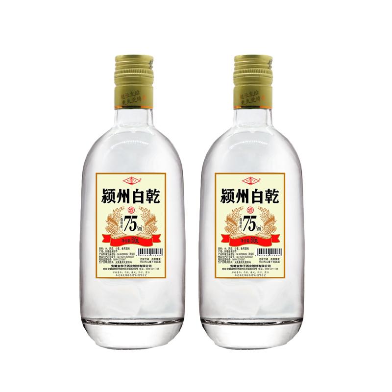 金种子白酒 75度500mL 颍州白乾 高度白酒