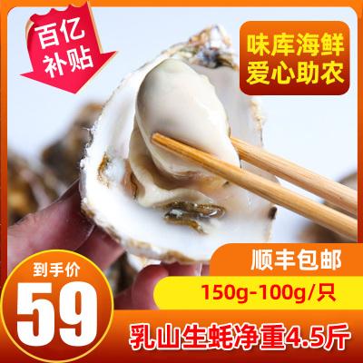 【鮮活】WECOOK 味庫鮮活乳山生蠔 海蠣燒烤食材 凈4.5斤裝150-100g/只(約15-23只)