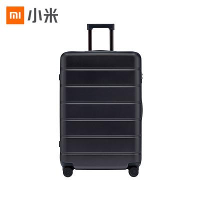 小米(MI)拉杆箱 高弹性万向静音轮旅行箱 TSA海关锁简约商务登机箱 28英寸 黑色