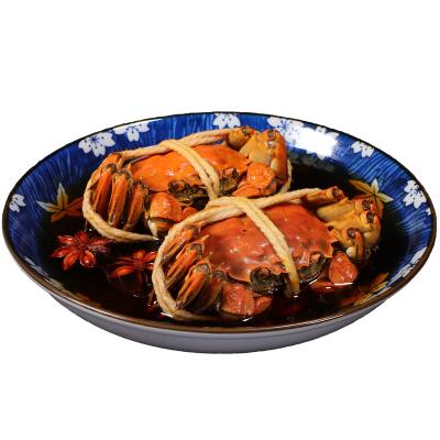 【正常發貨】無錫特產美食熟食醉蟹全母蟹大閘蟹即食嗆蟹小海鮮 4只