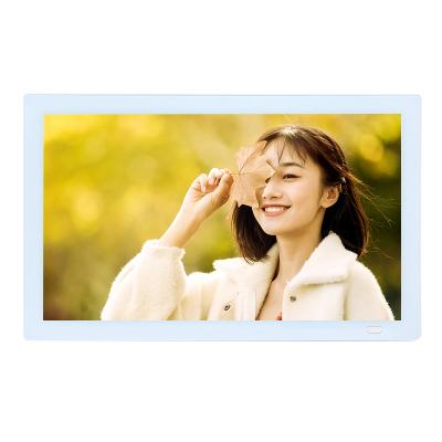 乐士利雅13.3英寸钢化玻璃1920*1080 全视角高清数码相框 电子相册家用送礼 摆台 照片播放器送16G U盘